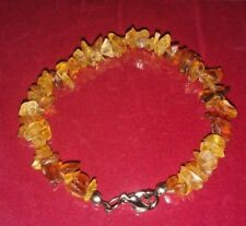 Vintage Bracelet Natural Baltic Amber Stone 11g  Butterscotch, Egg Yolk Old