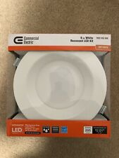 4 Commercial Electric Easy Up 6in.Soft White Integrated LED Recessed Baffle Kit
