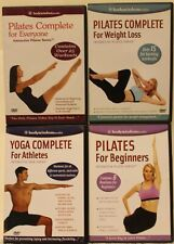 4 Bodywisdom yoga & Pilates workout Dvd lot for beginners athletes everyone loss