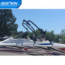 Reborn Thrust Boat Wakeboard Tower Black Coated  Universal Fit  5 yrs warranty