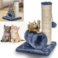 Cat Kitten Play Scratch Bed Sisal Toy Fun Post With Tunnel & Mouse Pet Activity