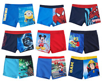 Boys Official Licensed Various Character Swimming Swim Shorts Trunks 3 - 12