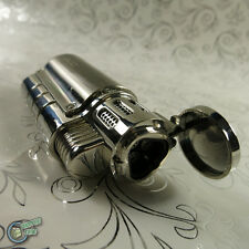 3 JET Lighter Cigar Burner Butane Gas Refillable Refill Cigarette Triple Flame B