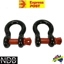 2x Bow Shackles 4.75T 4x4 4WD Recovery Rigging Tow D-Ring EXPRESS & WARRANTY
