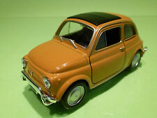 WELLY  1:24?  FIAT 500 YELLOW  - RARE SELTEN - GOOD CONDITION