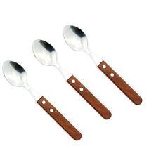 Set 3 Cucchiaio Acciaio Inox Manico In Legno Posate Cucina Casa dfh