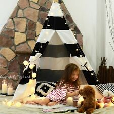 Kids Giant Canvas TEEPEE WIGWAM Childrens Indoor Play Tent Party Garden Tepee