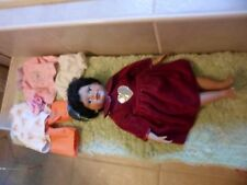 """17"""" Africian American Doll. Cloth body w porcelin face,arms legs. Brittany"""
