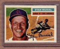 Stan Musial St Louis Cardinals custom card by Bob Lemke '56 style #348
