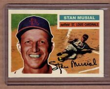 Stan Musial St Louis Cardinals custom card by Bob Lemke '56 style #348