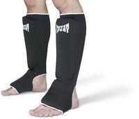 Schienbein Spannschutz, Paffen Sport, schwarz,Größen: S-XL. Muay Thai,Karate,MMA