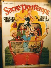 AFFICHE CINEMA : SACRE PRINTEMPS 1952