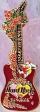 Hard Rock Cafe BANGKOK 2003 Valentine's Day PIN Roses BROWN Guitar - HRC #16552