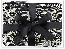 Vera Bradley *FANFARE* Cosmetic Trio 3 Make-up Case Pouch Bag *NWT* MSRP $40