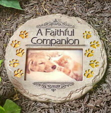 Pet Memorial Photo Stone Garden Remembrance Picture Grave Marker Cat Dog