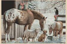 Horse Cross Stitch Chart - Christmas Horse and Animals -no. 232 TSG37