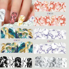 Gradient Marble Shell Design Nail Art Transfer Decal Sticker Manicure Decoration