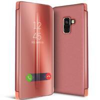 Handy Klapp Tasche für Samsung Galaxy A8 2018 Hülle View Flip Case Schutz Cover