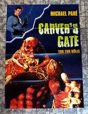 CARVER`S GATE - Tor zur Hölle * A1 VIDEO-POSTER -German 1-Sheet ´97 MICHAEL PARÉ