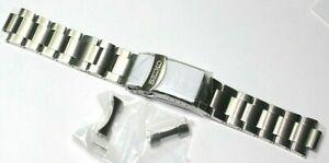 SEIKO HEAVY STEEL SOLID LINK BRACELET 22MM CURVED ENDS 4R36-07G0 M0KWX13J0 SRPD5