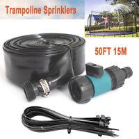 49.2FT Trampoline Sprinkler Water Spray Kids Outdoor Backyard Waterpark Game US