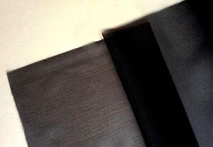 """Bra Making. 20 Denier Sheer Nylon / Stabilised Nylon. 60"""" Wide. Black"""