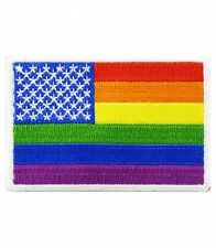 Rainbow Gay Rights American Flag Patch, LGBT Pride Patches