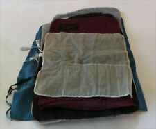 Assortment of Vintage Sterling Silver Flatware Roll Up Storage Bags - Lot of 7