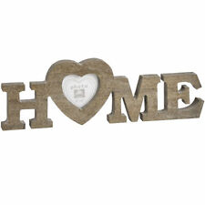 Wooden Heart Freestanding Photo & Picture Frames