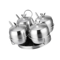 Spice Container Jar Condiment Dispenser Cruet Kitchen Seasoning Box 4pcs