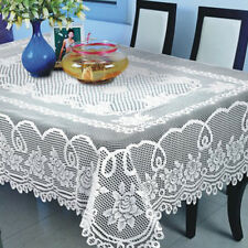 Vintage Floral Lace Tablecloth White Rectangle Tablecloth Valentines Party Decor