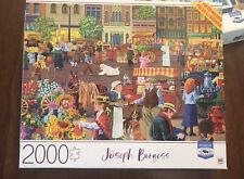 MB Milton Bradley 2000 Piece Puzzle Street Vendor Morning  Joseph Burgess New