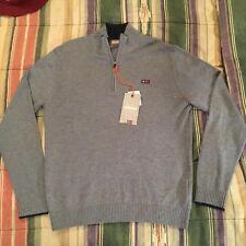 NAPAPIJRI GEOGRAPHIC 1/4 Zip Wool Knit Sweater LARGE