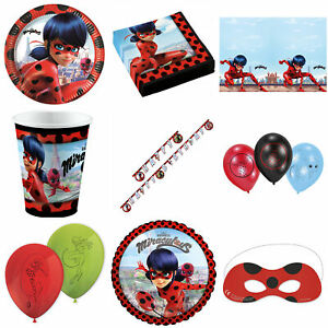 Miraculous Ladybug Banner Foil Balloon Cups Plates Napkins Tablecover
