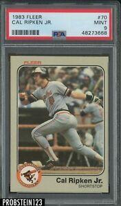 1983 Fleer #70 Cal Ripken Jr. Baltimore Orioles HOF PSA 9 MINT