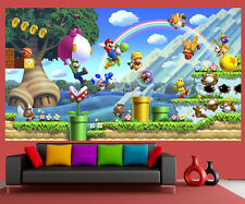 Wallpaper Mural Super Mario Mural Game Amazing 105x186cm, Kids room, 3 panels