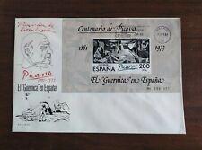 SOBRE PRIMER DÍA FDC ESPAÑA 1981 HB EL GUERNICA DE PICASSO
