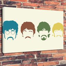 "Astratto i Beatles band STAMPA FOTO SU TELA A1.30""x20""30mm Deep Wall Art"