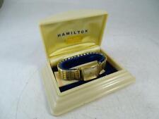 Vintage 1959 Men's Wristwatch 10K Gold Filled Hamilton 19 Jewels 753 w/ Case Old