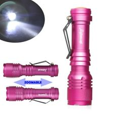 Zoomable XPE 20000LM 3modes LED Flashlight Lamp 14500/AA Red Compact Outdoor k
