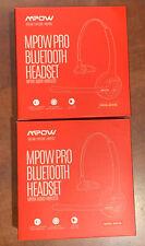 Mpow Pro 2-Pack Truck Driver Bluetooth Headset Office Wireless Earpiece BH015B