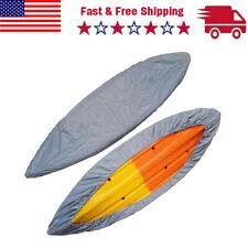 Universal Kayak Canoe Boat Storage Cover Waterproof UV Resistant Dust Grey
