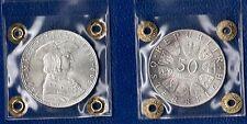 MONETA DA 50 SCELLINI ARGENTO AUSTRIA 1969 FDC SILVER SIGILLATA Maximilian I
