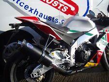 Aprilia RSV4 Black Oval Road Legal Performance Motorbike Exhaust Can