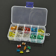 100Pcs Assorted Car Mini Low Profile Fuse Box 5 7.5 10 15 20 25 30 A DIY Sales