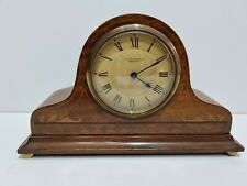 More details for antique edwardian buren swiss inlaid mahogany mantle clock platform balance