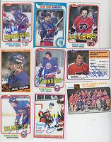 1984-85 TOPPS SIGNED ALL STAR CARD BRYAN TROTTIER ISLANDERS PENGUINS HOF # 160
