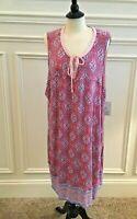 Croft & Barrow Women's Printed Sleeveless Nightgown Plus Size 2X 3X 4X - NWT