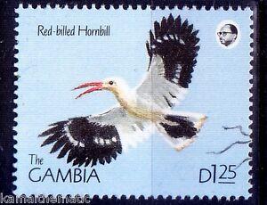 Gambia 1990 MNH, Red Billed Hornbill, Birds (H46)