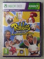 XBOX 360 KINECT REQUIRED Rabbids Invasion THE INTERACTIVE TV SHOW New Sealed